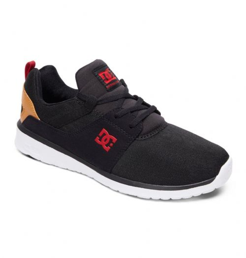 DC SHOES MENS TRAINERS.HEATHROW ORTHOLITE BLACK ATHLETIC SKATE SHOES 8W 71 BC1